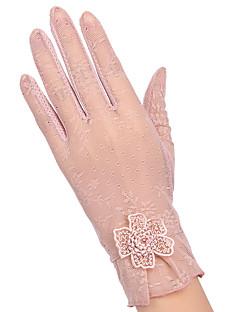 Damer Sødt Fest Kontor Afslappet Håndledslængde Fingerspidser,Bomuld Alle årstider Patchwork