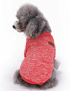 Katzen Hunde Mäntel T-shirt Hundekleidung Winter Frühling/Herbst einfarbig Niedlich Modisch Sport Rot Grün Blau Rosa Hellblau