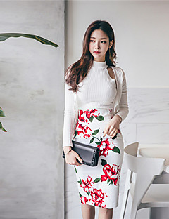 2017 nye koreanske tredelt cardigan solbeskyttelse klær mote vest skjørt kjole dress kvinnelige