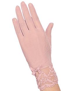 Damer Sødt Fest Kontor Afslappet Håndledslængde Fingerspidser,Bomuld Blonder Alle årstider Patchwork