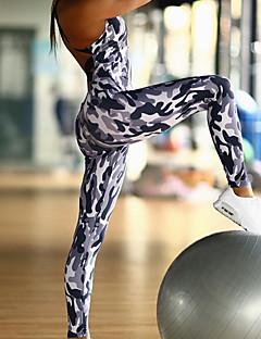 Dame Aktiv Sport Kjeledresser,Tynn Høyt liv Kryss Camouflage Alle sesonger
