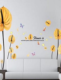 Blumen Wand-Sticker Flugzeug-Wand Sticker Dekorative Wand Sticker,Vinyl Stoff Haus Dekoration Wandtattoo
