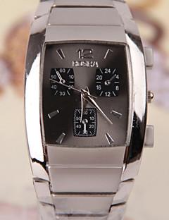 Masculino Relógio de Pulso Quartzo Aço Inoxidável Banda Preta Cinza Preto Prata # 1 # 2