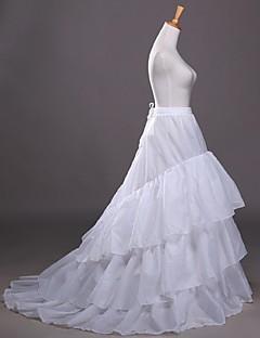 Déshabillés Robe sirène et robe évasée Chapelle Longueur Cathédrale 3 Polyester Blanc Noir