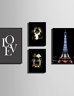 E-HOME® Framed Canvas Art Simple Animals And Love Theme Series Framed Canvas Print One Pcs