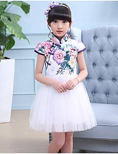 女の子の カジュアル/普段着 プリント コットン レーヨン ドレス 夏 半袖