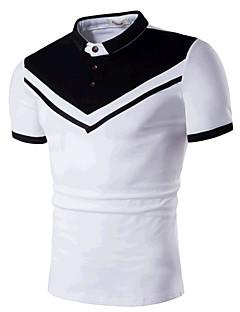 Men's Casual/Daily Beach Simple Active Summer T-shirt,Print Round Neck Short Sleeve Cotton Medium