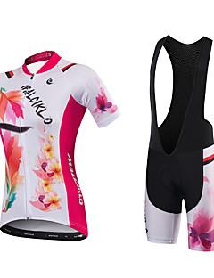 177f5bfa80d0 Αθλητική φανέλα και σορτς ποδηλασίας Γυναικεία Κοντομάνικο Ποδήλατο Αθλητική  μπλούζα Σορτσάκια με Μαξιλαράκια Bib ΚαλσόνΓρήγορο Στέγνωμα