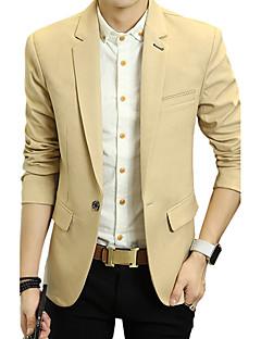 Herren Einfarbig Einfach Lässig/Alltäglich Arbeit Blazer,V-Ausschnitt Frühling Herbst Standard Baumwolle Acryl