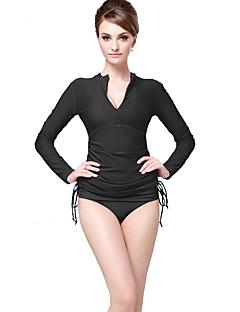 Femme 2mm Combinaison de plongée Zip frontal Lisse Ecran Solaire Couleur Pleine Elasthanne Chinlon Tenue de plongée Manches Longues