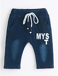 Drenge Jeans Afslappet/Hverdag Ensfarvet-Bomuld Efterår Forår