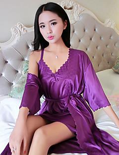 Feminino Pijama Seda Sintética Feminino