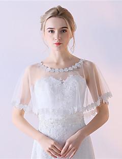 Estolas Femininas Mini Capa Tule Casamento Festa Renda