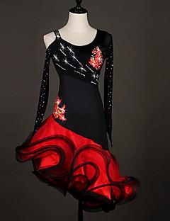 Skal vi latin dance dresses kvinders præstation organza kjole