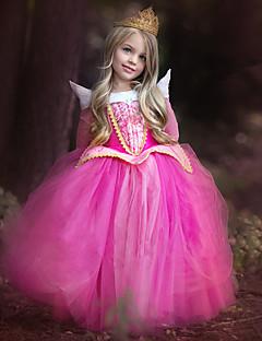 Fantasias de Cosplay Princesa Festival/Celebração Trajes da Noite das Bruxas Rose Rendas Purpurina Brilhante VestidoNatal Dia da Criança