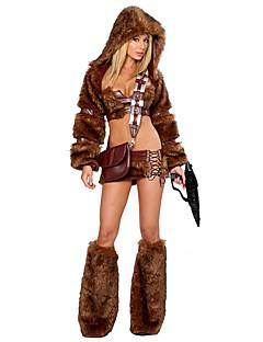 Cosplay Kostumer Dyremønster Festival/høytid Halloween-kostymer Andre Frakk Topp Skjørte Beinvarmere Hatter Halloween KvinneligSpandex
