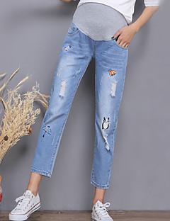 Damă Larg Simplu Șic Stradă Talie Inaltă,strenchy Pantaloni Chinos Pantaloni Solid