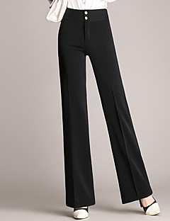 Women's Mid Rise Inelastic Chinos Pants,Simple Slim Solid