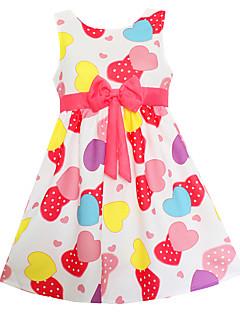 女の子の お出かけ カジュアル/普段着 ホリデー 幾何学模様 コットン 竹繊維 ドレス 夏 ノースリーブ