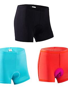Cueca Boxer Acolchoada Mulheres Moto Shorts Roupa interior Respirável Secagem Rápida Design Anatômico Tapete 3D ConfortávelPoliéster