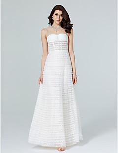 גזרת A עם תכשיטים עד הריצפה תחרה טול ערב רישמי שמלה עם חרוזים פרנזים על ידי TS Couture®
