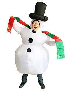Cosplay Kostumer Halloween Utstyr Maskerade Oppblåsbart kostyme Vanntett Film-Cosplay Trikot/Heldraktskostymer Air BlowerHalloween Jul