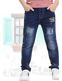 Drenge Jeans I-byen-tøj Afslappet/Hverdag Skole Trykt mønster-Bomuld Sommer Forår Efterår