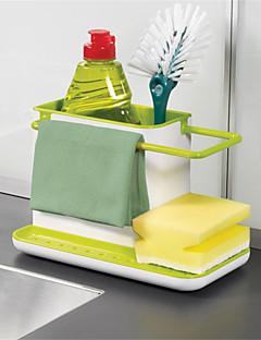1pcs incrível 3 em 1 armazenamento de luva detritos rack dishclout rack de armazenamento de cozinha stands utensílios