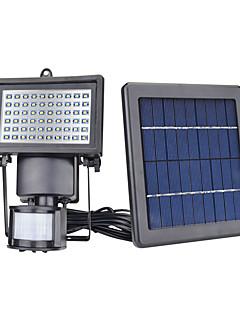 1本60 LED太陽光センサーセキュリティガーデンライトピラーモーションセンサーパスウォールランプ屋外緊急ランプ