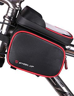 自転車用バッグ自転車用フレームバッグ 防水 防水ファスナー 耐久性 多機能の タッチスクリーン 自転車用バッグ PUレザー 防水素材 サイクリングバッグ Iphone 6/IPhone 6S/IPhone 7 サイクリング