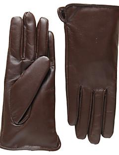 Herrer Afslappet Håndledslængde Fingerspidser,PU Forår Ensfarvet