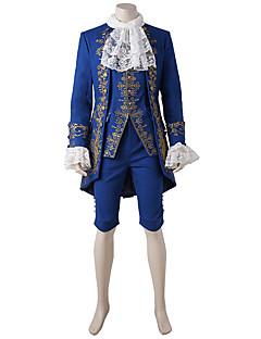 תחפושות קוספליי תחפושת למסיבה נסיך אגדה פסטיבל/חג תחפושות ליל כל הקדושים כחול וינטאג' מעיל אפוד חולצה מכנסייםהאלווין (ליל כל הקדושים)