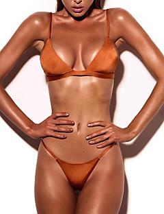 Naisten Bikini Yksivärinen plunging Pääntie Halter Tukeva