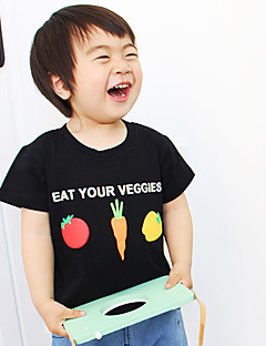 Children's Fashion And Lovely Vegetables Radish Three Color Stereoscopic Printing Short Sleeve T-Shirt