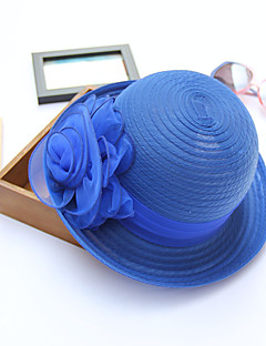 Women's Mesh Bucket Sun Hat Handmade Flower Spring/Fall  Summer  Hats