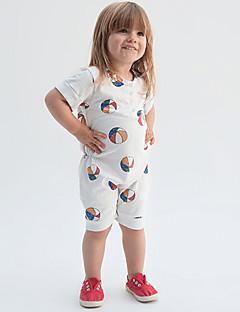 Vauva Muoti Painettu Geometrinen Yksiosaiset Puuvilla Kesä Lyhythihainen