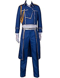 קיבל השראה מ Fullmetal Alchemist Roy Mustang אנימה תחפושות קוספליי חליפות קוספליי אחיד מעיל מכנסיים צעיף עבור זכר