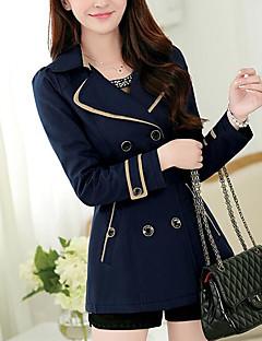 여성 솔리드 셔츠 카라 긴 소매 코트,모던/현대 일상 긴 그외 봄
