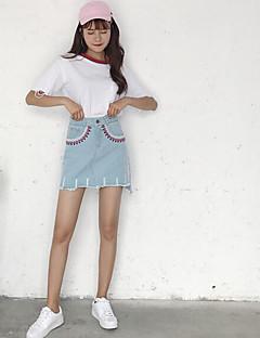 レディース Aライン カジュアル/普段着 膝上 スカート ゼブラプリント 幾何学模様 夏