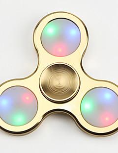 Dikkat Çarkları El iplik makinesi Oyuncaklar Tri-Spinner LED Spinner EDCStres ve Anksiyete Rölyef Ofis Masası Oyuncakları ADD, DEHB,