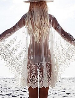 女性 バンドゥ ポリエステル カバーアップ メッシュ 刺繍