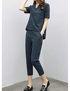 レディース カジュアル/普段着 夏 Tシャツ(21) パンツ スーツ,シンプル ストライプ 半袖