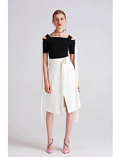 Damen Einfach Ausgehen Lässig/Alltäglich Urlaub Asymmetrisch Röcke Schlank einfarbig Sommer