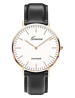 Homens Relógio de Moda Relógio de Pulso Relógio Casual Chinês Quartzo / PU Banda Vintage Casual Luxuoso Elegantes Minimalista Preta Marrom