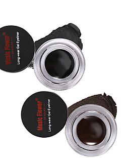 Lápis de Olho Molhado Secagem Rápida Longa Duração Prova-de-Água Olhos 2 in 1 Brown + Black
