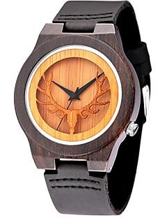 男性用 スポーツウォッチ ファッションウォッチ リストウォッチ ユニークなクリエイティブウォッチ カジュアルウォッチ 腕時計 ウッド クォーツ 木製 本革 バンド クール カジュアルスーツ 創造的 ラグジュアリー エレガント腕時計 ブラック ブラウン