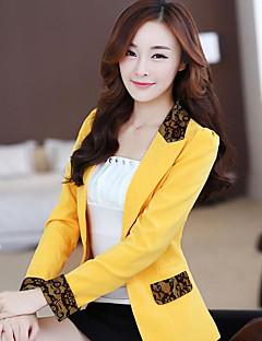 Odijelo Ženske,Jednostavan Rad Jednobojni-Dugih rukava V izrez-Ljeto Normalne dužine Poliester