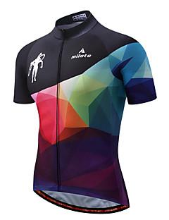 Miloto Camisa para Ciclismo Homens Manga Curta Moto Camisa/Roupas Para Esporte Lista Reflectora Secagem Rápida Esticar Elastano Poliéster