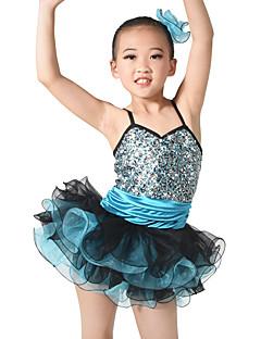 Μπαλέτο Σύνολα Παιδικά Επίδοση Σπαντέξ Με Πούλιες Σούρες Βαθμίδες 3 Κομμάτια Αμάνικο Φυσικό Φόρεμα Αξεσουάρ Κεφαλής Κοντά Παντελονάκια
