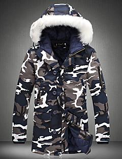 Heren camouflage Normaal Gewatteerd Jas-Casual/Dagelijks Street chic Polypropyleen Katoen Lange mouw